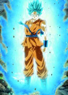 Goku, Super Saiyan God form from the Dragon Ball Z and Dragon Ball Super anime