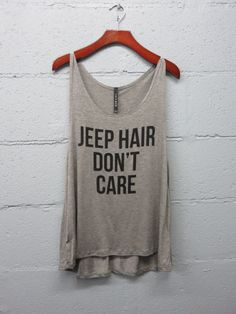 Jeep Hair Don't Care Tank Top. Women's Clothing. Size Small to Large.
