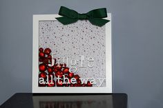 Jingle all the way- use transparent film and vinyl to make it interchangeable for different holidays
