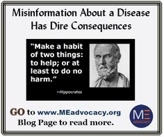 Misinformation about ME by the CDC has Dire Consequences #MyalgicE #PWME  #MECFS #CFS http://www.meadvocacy.org/misinformation_about_a_disease_has_dire_consequences … MEadvocacy.org (@meadvocacy_org) | Twitter