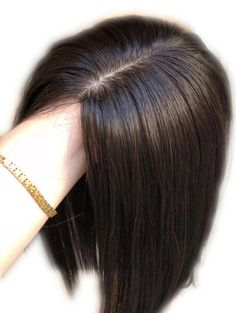 Full Silk Injected Base Human Hair Topper Hair Pieces For Thinning Hair And Baldness Patches 100 Human Hair, Human Hair Wigs, Hair Fall Solution, 50 Hair, Hair Toppers, Half Wigs, Curly Girl Method, Beauty Hacks, Beauty Tips