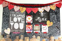 easy heart garland tutorial + printables for the posters and Valentine's