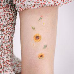 41 Amazing Sunflower Tattoos Ideas You'll Love - Are you also looking for a sun. - 41 Amazing Sunflower Tattoos Ideas You'll Love – Are you also looking for a sunflower tattoos - Dainty Tattoos, Pretty Tattoos, Beautiful Tattoos, Small Tattoos, Small Colorful Tattoos, Amazing Tattoos, Sunflower Tattoo Small, Sunflower Tattoos, Dream Tattoos