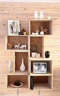 made with old drawers- would like with a more country feel instead of modern