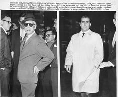 Chicago Outfit members Murray the Camal Humphries, Outfit leader of the Connection Guts and Anthony Tisci, son-in-law of boss Sam Giancana. Chicago Outfit, Son In Law, The Fam, Gangsters, Cannoli, Great Photos, Mafia, Mississippi, In The Heights