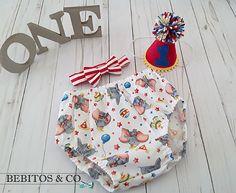 Boys Circus Birthday Diaper Set, Circus Cake Smash Outfit, Circus First Birthday, Boy Circus Diaper Hat & Necktie, Circus Photo Prop