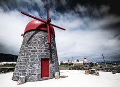 Portugal, Places To Visit, Park, Outdoor Decor, Windmills, Windmill, Portuguese Tiles, Sunrise, Places