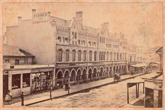 Farmer and Company\'s `Victoria House\' Department Store,Pitt St,Sydney in 1875.