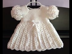 Crocet Baby Dress Baptism Blessing Christening by GoingCrafty Baby Girl Crochet, Crochet Baby Clothes, Crochet Baby Shoes, Crochet Dresses, Dress Up Outfits, Baby Outfits, Baby Dresses, Baby Girl White Dress, Crochet Baby Dress Pattern