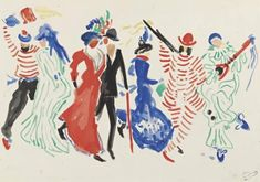 Figures from a Carnival reproduction by Andre Derain André Derain, Matisse, Web Gallery, Art Database, Oil Painting Reproductions, Dance Art, French Art, Oil Painting On Canvas, Van Gogh