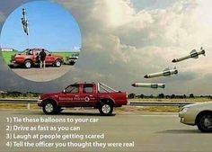 Missle balloons april fools