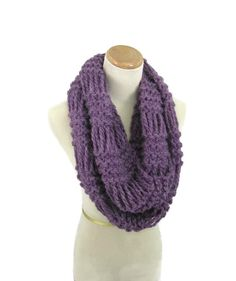 Infinity Scarf Knit Scarf Loop Scarf Neck by ArlenesBoutique