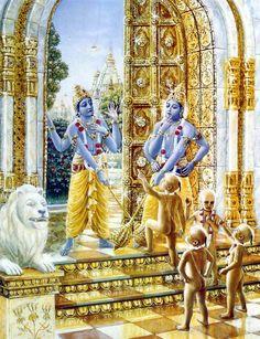 The four Kumaras made it to Vaikuntha's gates.
