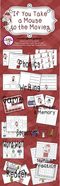 If you take a mouse to the movies unit - phonics, writing, games, sequencing, reading, word wall and number activities
