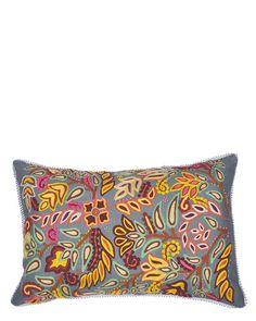 Karma Living Crewel Embroidery Decorative Pillow