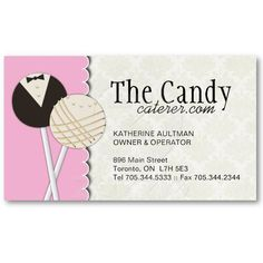 Cake pops business cards cake pop business and pop dessert caterers business cards reheart Choice Image