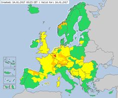 Valid for 14.01.2017  Meteoalarm - severe weather warnings for Europe - Mainpage