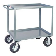 Service Cart, 39x48x24 In by Jamco. $438.22. Service Cart, Load Capacity 1200 lb., Color Beige, Overall Length 48 In., Overall Width 24 In., Overall Height 35 In., Number of Shelves 2, Caster Size 8 In., Caster Type 2 Rigid, 2 Swivel, Capacity per Shelf 600 lb.
