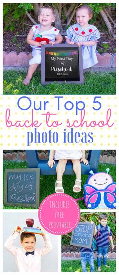 Short on time? We have all you need to show your social media that you have it together with these 5 fun creative back to school picture ideas! via @foodfunkids