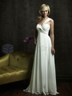 Chiffon wedding dresses are perfect choice for brides who like to look elegant and romantic. Here we present you 15 lovely chiffon wedding dresses. Wedding Dress Train, Wedding Dress Chiffon, 2015 Wedding Dresses, Cheap Wedding Dress, Wedding Dress Styles, One Shoulder Wedding Dress, Bridesmaid Dresses, Dresses 2014, Wedding Gowns