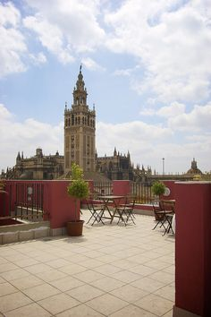 Roof in Seville, Spain