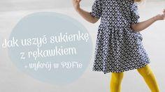 Kurs szycia dla początkujących, odcinek 16 – wykrój na sukienkę z rękawkiem