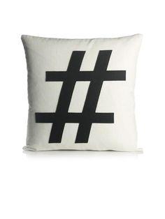 Hashtag Pillow.