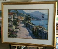 Bellagio Promenade  1991 by Howard Behrens Lithograph on Paper Affordable Art Home Decor Romantic Intimate large Lithograph Special Gift by USANOW on Etsy