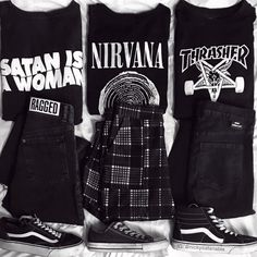 Ideas for style grunge tights Grunge Outfits, Punk Outfits, Mode Outfits, Grunge Fashion, Fashion Art, Girl Outfits, Fashion Outfits, Mode Grunge, Style Grunge