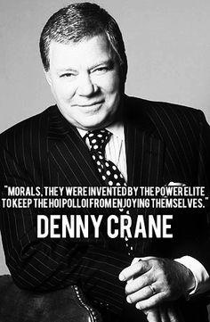Great Tv Shows, Old Tv Shows, Tv Funny, Hilarious, Denny Crane, Star Trek Quotes, Boston Legal, James Spader, William Shatner