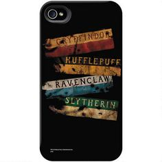 This Harry Potter phone case features the Gryffindor, Slytherin, Ravenclaw and Hufflepuff house banners and will protect your phone in style.