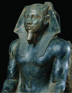 Khafre (Reign: 26 years, ca. 2570 B.) The pharaoh Khafra is the son of Khufu and built the second-largest pyramid at Giza. Ancient World History, Art History, European History, Kemet Egypt, Egyptian Pharaohs, Art Antique, Ancient Egyptian Art, Ancient Aliens, Ancient Greece