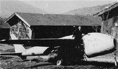 The Me P.1101, outside at the Messerschmitt Oberammergau complex..