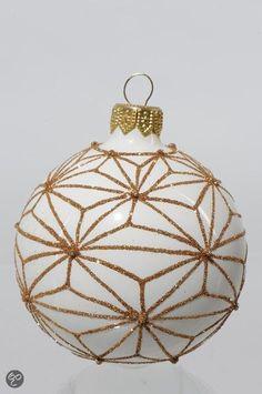 Glazen Kerstballen Bewerkt - WolWit