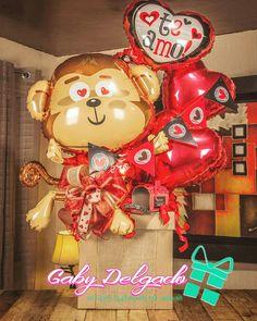 Valentine Baskets, Valentine Crafts, Valentines, Cake Bouquet, Surprise Gifts, Balloon Decorations, Gift Baskets, Balloons, Halloween