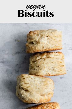 These homemade vegan biscuits are soft and buttery, with beautiful flaky layers. It's so easy to make biscuits, and they come together in no time! Biscuits Végétaliens, Vegan Biscuits, Baking Biscuits, Homemade Biscuits, Homemade Recipe, Dairy Free Biscuits, Vegan Mac And Cheese, Vegan Foods, Vegan Dishes