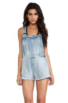 Finders Keepers Pawn Shop Blues Playsuit in Denim from REVOLVEclothing