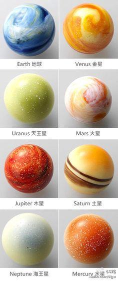 solar system cake pops