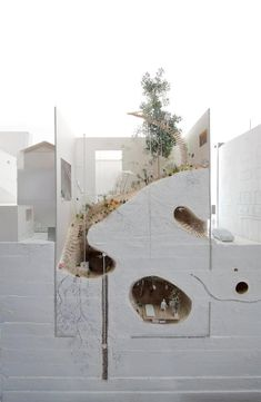 linowska:  archimodels:  © ikimono architects  So gastro