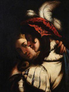 The Lovers by Pietro della Vecchia Oil on canvas on panel, 71 x 54.5cm Collection:The University of Edinburgh Fine Art Collection