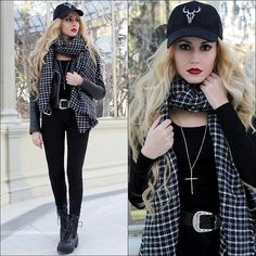 Get this look: http://lb.nu/look/8597873  More looks by Irene Aspas: http://lb.nu/rockmybootsblog  Items in this look:  Zaful Boots, Zaful Hat, Zaful Scarf   #gothic #grunge #punk