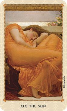 FLAMING JUNE – The tarot Sun sets on the Ionian Sea