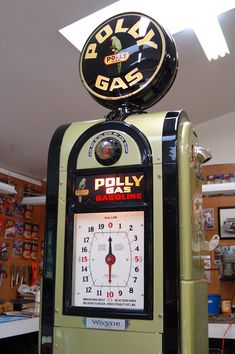 Vault's meticulous restoration of a beautiful Wayne Model 866 Polly Gas pump, circa 1937. www.vaultgarage.com ….. #Americana #artdeco #garageremodel #gasolinepump #ultimategarage #craftsmanship #restoration #Wayne866 #PollyGas #dreamgarage #mancave #AmericanMade #MadeinUSA #garageluxury #customgarage #goodlife #garage #garagelife #garagelifestyle #garagelove #garagemakeover #homedesign #garagedesign #garagedecor #homedecor #sportscars #classiccars #cars Old Gas Pumps, Vintage Gas Pumps, Country Bathrooms, Country Kitchens, Luxury Bathrooms, Contemporary Bathrooms, Garage Storage Solutions, Ultimate Garage, Shower Tile Designs