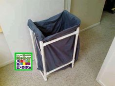 Laundry hampers are incredibly handy for keeping your dirty laundry out of the way. Rather than purchasing a commercial one, make this PVC Pipe DIY Laundry Hamper. A fun pvc pipe project, this DIY craft is affordable and very useful. Laundry Room Storage, Laundry Hamper, Diy Storage, Diy Organization, Storage Racks, Garage Storage, Organizing, Pvc Pipe Crafts, Pvc Pipe Projects