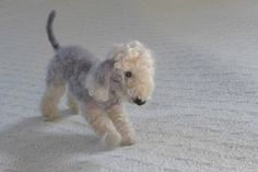 Bedlington Terrier /  Needle Felted Dog / Custom by GourmetFelted
