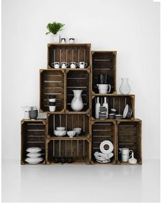 stack crates=contemporary shelving unit