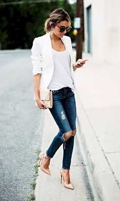 Spring & summer women fashion blazer outfits for works 41 collections