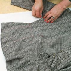 Making a pattern from existing complex garments.