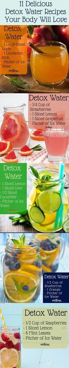 FREE Trial bottle PureColon detox drink - http://syn.su/10e 11 Healthy and Delicious Detox Water Recipes Your Body Will Love! #WeightLoss #HealthyRecipes #Recipes #detoxwater #detoxcleanse #detox #detoxtea #detox