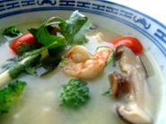 Tom Yum Kung - Thai Tom Yum Kung Soup. I just made this for when Michael gets home from school :-)